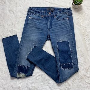 Abercrombie & Fitch Patchwork Super Skinny Jeans